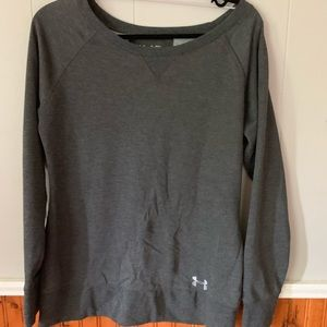 Under Armour Gray Long Sleeve Top Semi-Fitted